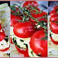 Tomate-mozza revisitées, juste pour enerver les chefs !