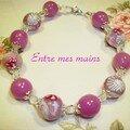 bracelet fleurs roses 1