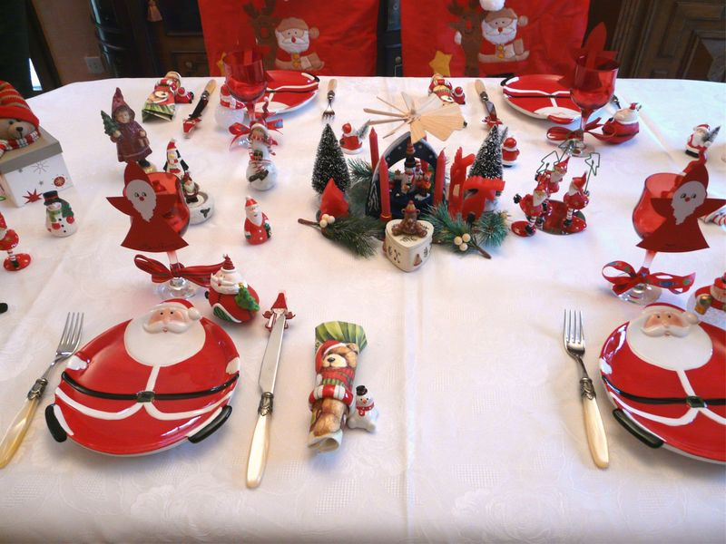 P1020165 photo de noel tradition deco de tables - Decoration pour table de noel ...