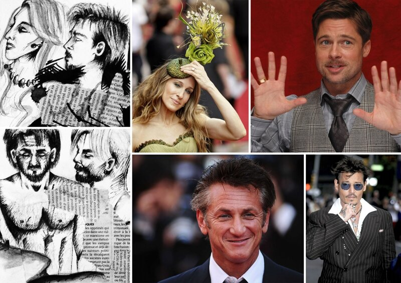 Zoom sur SJP + Brad + Sean + Johnny