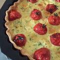 Tarte au surimi et tomates cerises