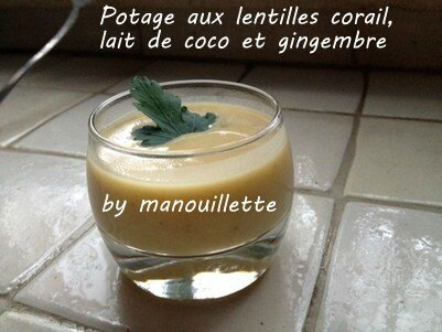 potage aux lentilles corail lait de coco et gingembre par pure gourmandise. Black Bedroom Furniture Sets. Home Design Ideas