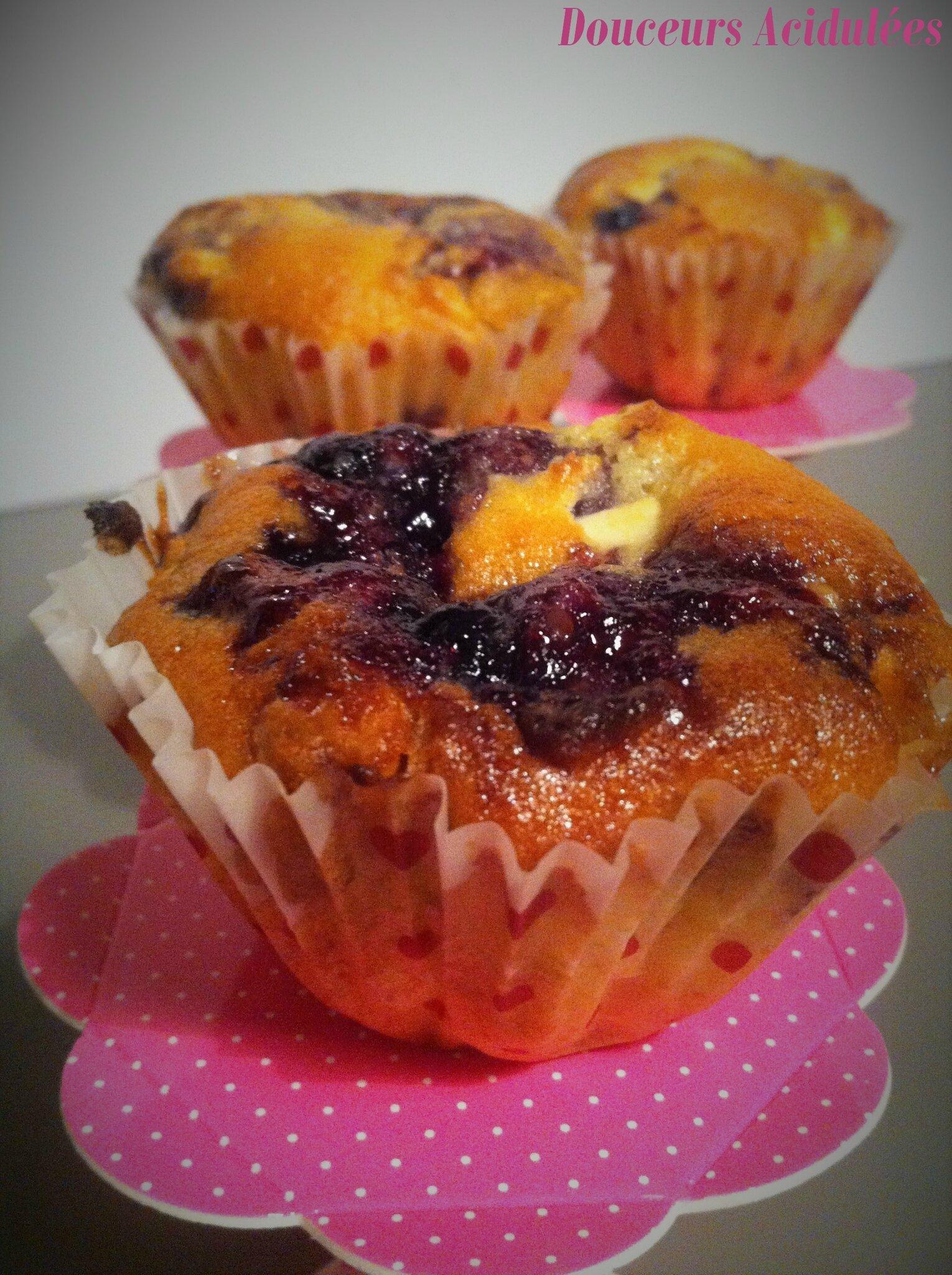 Muffins Chocolat Blanc & Myrtille/Cassis