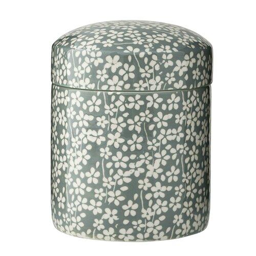 jarre fleurs vert