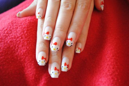 nail art hello kitty (5)