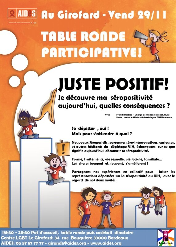 Affiche table ronde Juste Positif