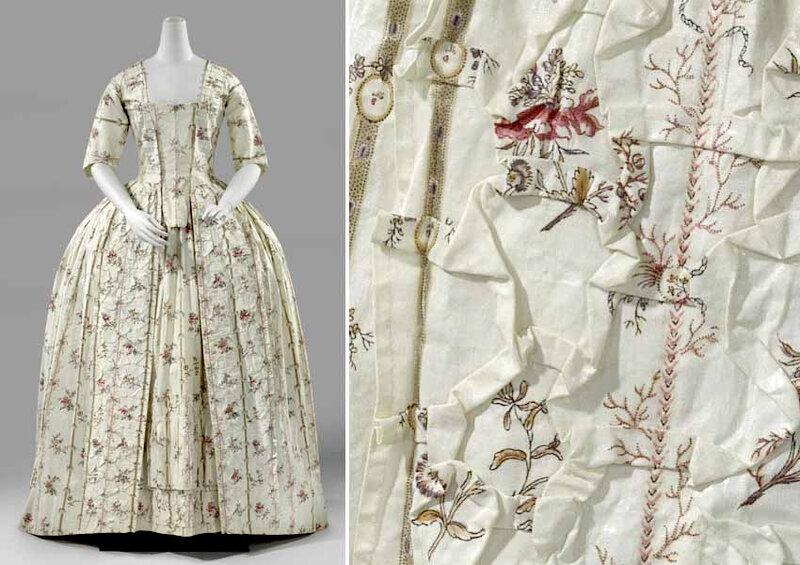 Rijksmuseum - Robe origami - vers 1775-1785