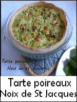 tarte poireaux noix de st jacques weight watchers