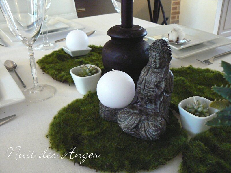 Décoration de table Zen, nature  Nuit des Anges
