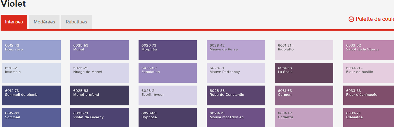 La question couleur les couleurs encore el 39 lef bien - Les nuances de violet ...
