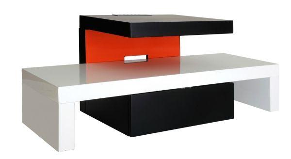 Quel meuble tv pour votre salon blog 2 maison - Meuble tv rouge et noir ...