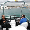 61e CANNES Blogreporters on the Majestic boat