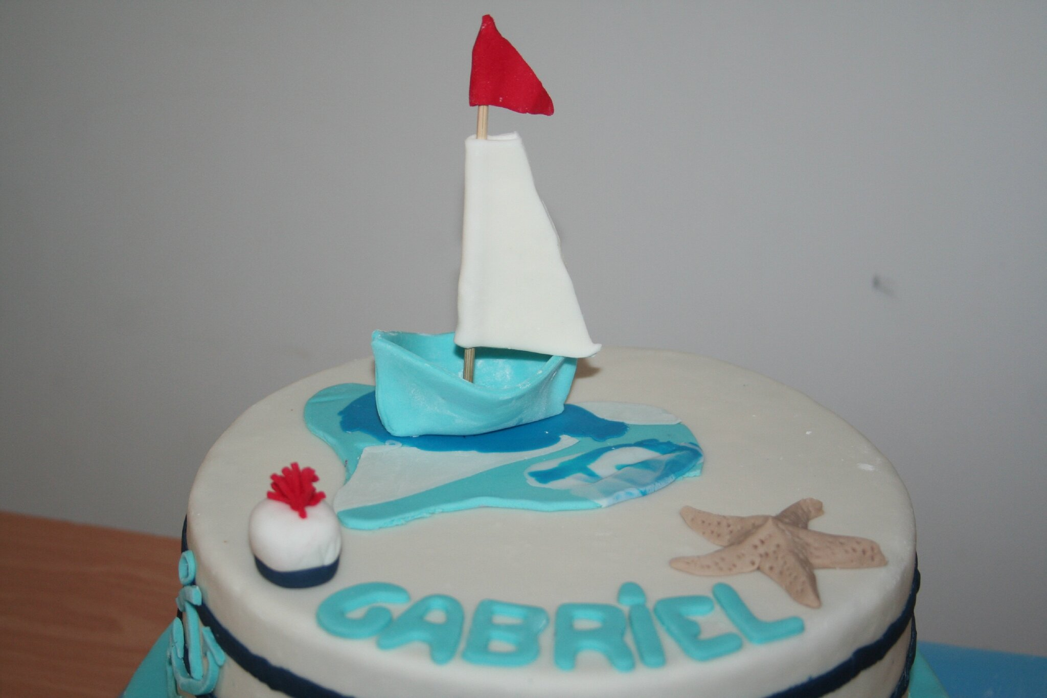 Gateau th me marin pour le bapteme de gabriel la manie for Theme marin decoration