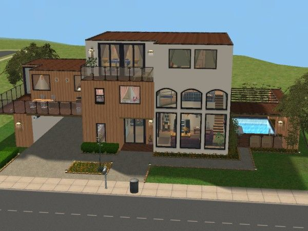 Maisons deco sims2 for Modele maison sims freeplay