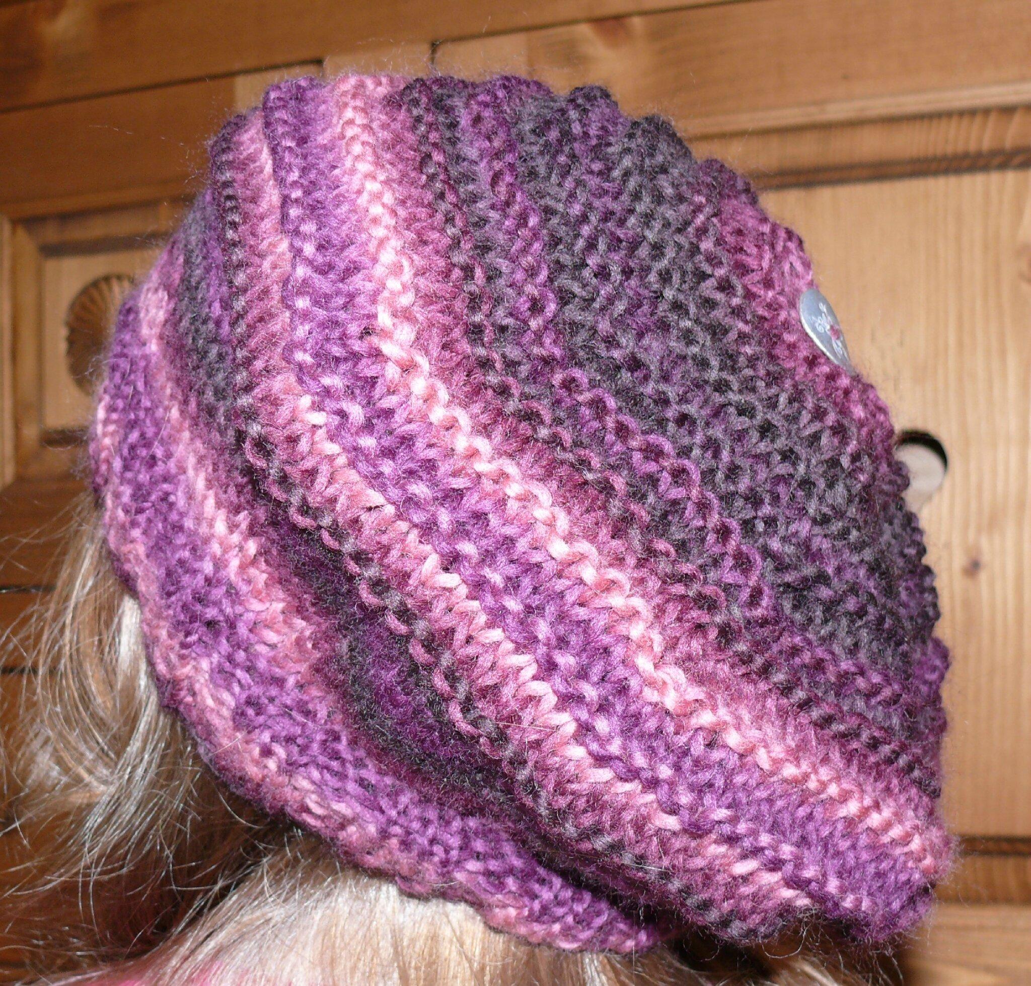 comment tricoter un beret en video