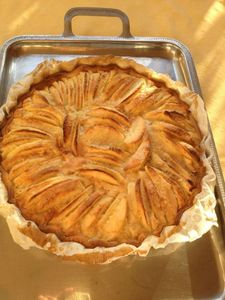 tarte aux pommes cuite