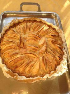 tarte aux pommes cuite