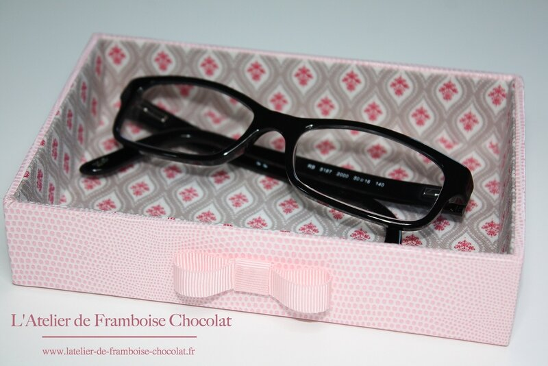 Plateau à lunettes L'Atelier de Framboise Chocolat