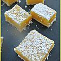 Carrés au citron de martha stewart