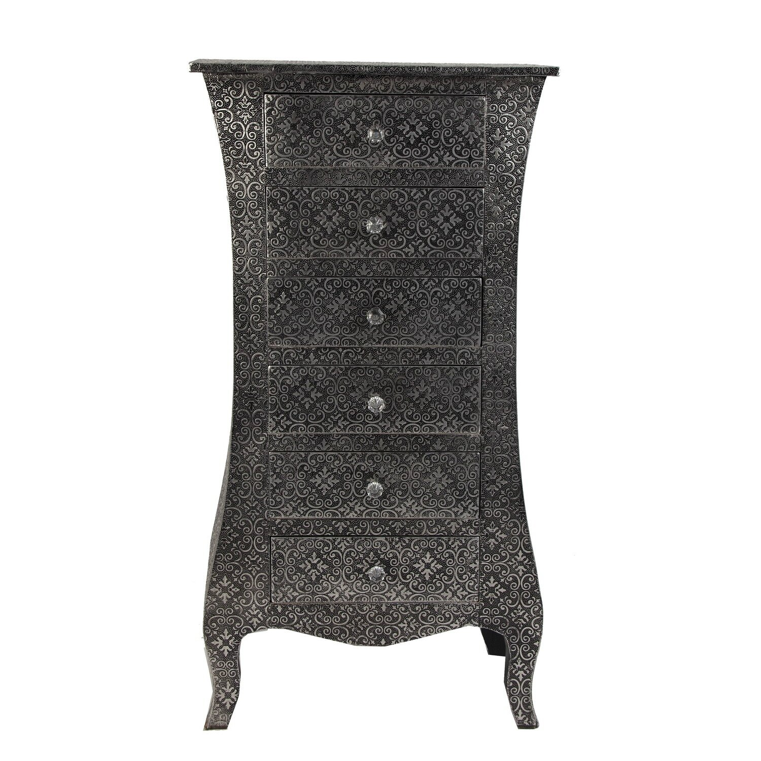 chiffonnier baroque argent meubles et d coration amadeus au grenier de juliette. Black Bedroom Furniture Sets. Home Design Ideas