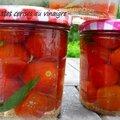 Tomates cerises au vinaigre en bocal