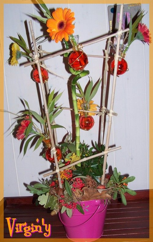 composition florale automnale virgin 39 crea. Black Bedroom Furniture Sets. Home Design Ideas