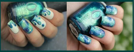 polish nails galaxy