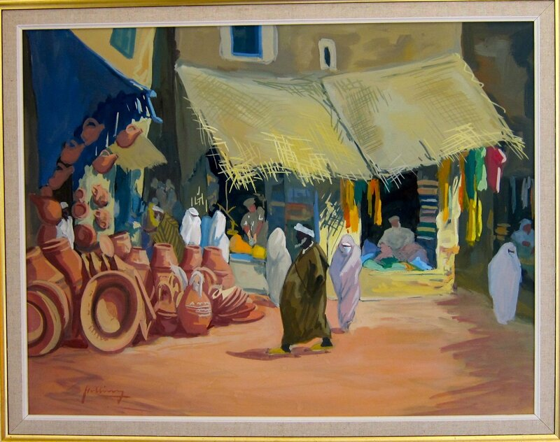 Bab Doukhala gouache 64x49 Charles Holbing