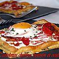 Tartelettes chorizo , poivrons et oeufs