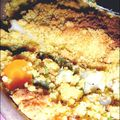 Crumble de légumes au curry