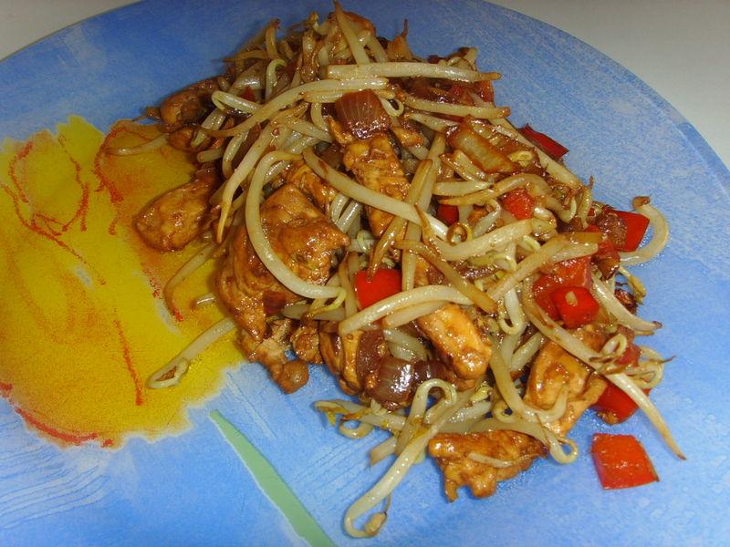 Sauté de poulet au soja