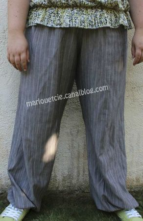 pantalon aladin beige rayé