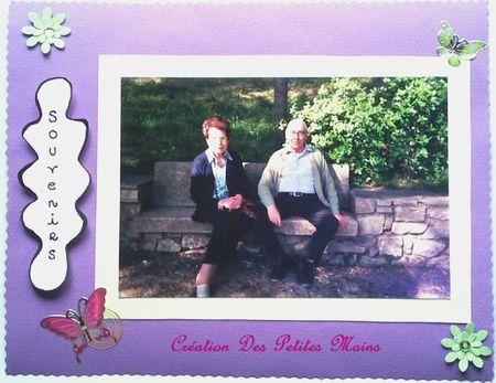 Carte souvenirs parents Jardin de la Fontaine 2007