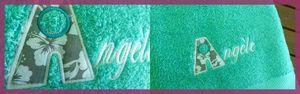 Serviette de douche brodée Angèle