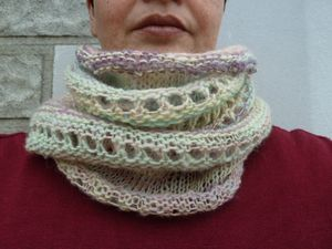 Dew Drop Cowl Handspun 007