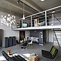 Un loft en gris anthracite