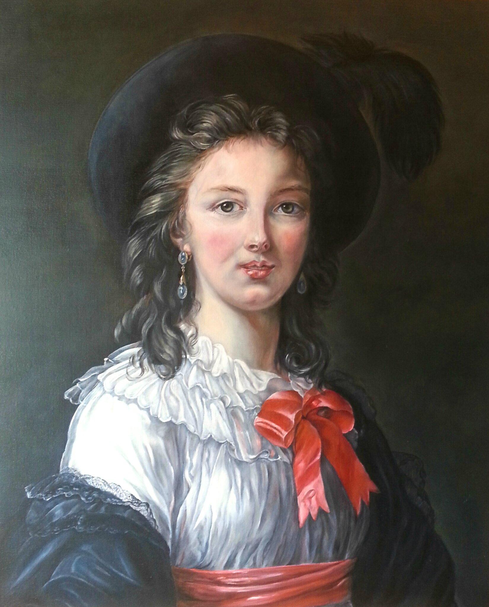 Autoportrait au noeud cerise
