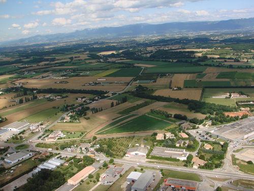 2008 07 07 Vu aérienne depuis l'ULM d'Etoile sur Rhône en direction de Crussol (5)