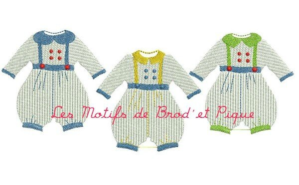 342 ensemble tricot motif broderie machine