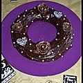 Couronne de noel au chocolat