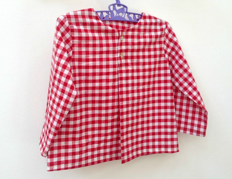 BLOUSE VICHY ROUGE 1