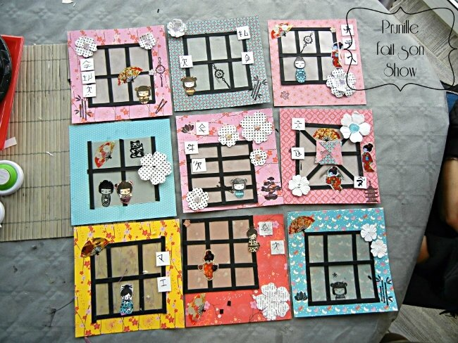 sweet table manga et japon prunillefee carte scrap japon