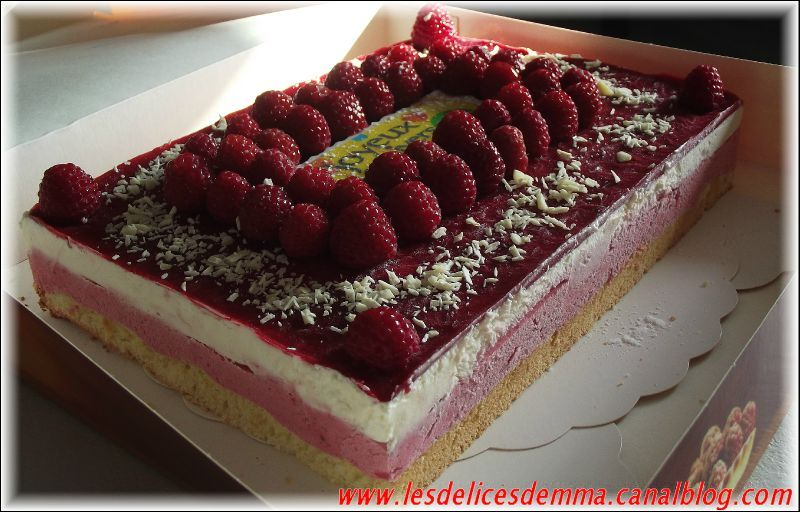 Recette gateau speculoos framboise