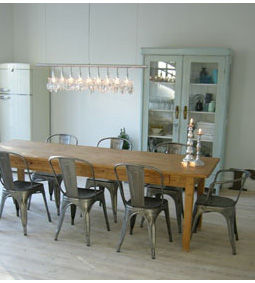 Campagne design zocaa interior and design for Table en bois style campagne