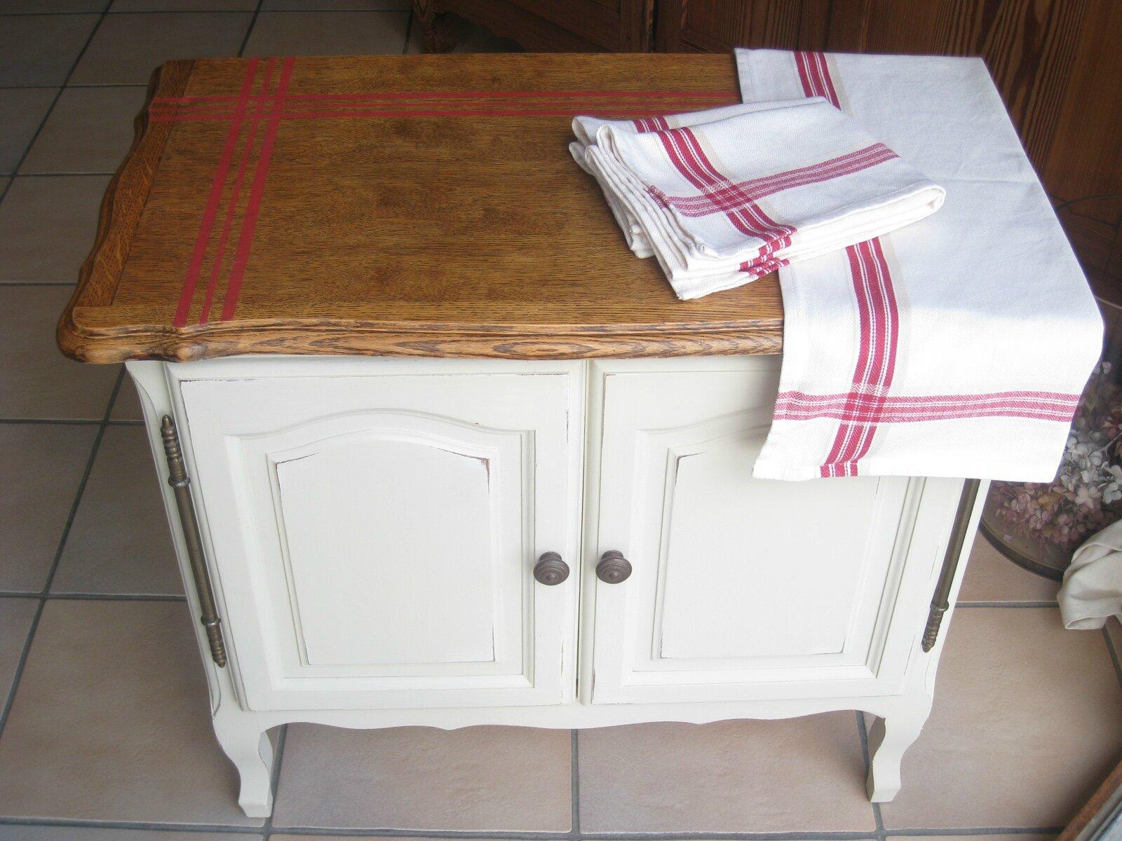 Ancien Meuble T L En Bois Patin Bicolore 150 Photo De  # Meuble Tv Patine