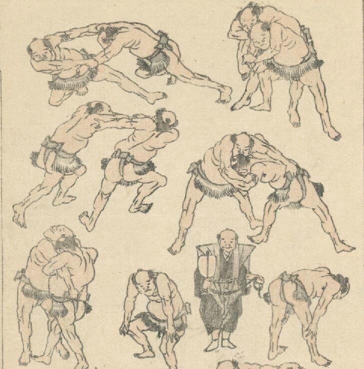 Manga_Hokusai_Combat