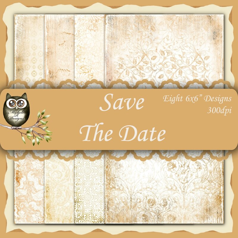 Save The Date Front Sheet