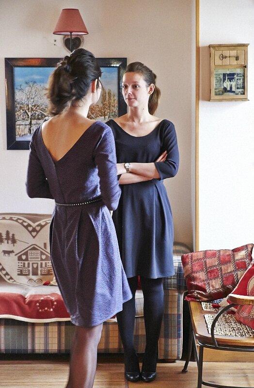 Robe Bordeaux Romanne Couture 5