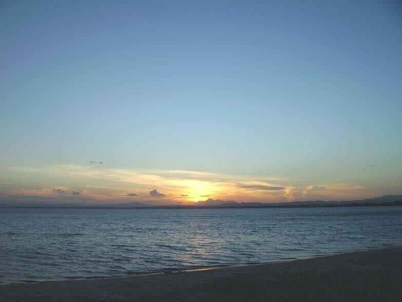 Le coucher de Soleil du 8 octobre 2006 (Golfe d'Hammamet)