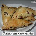 Scones aux cranberries